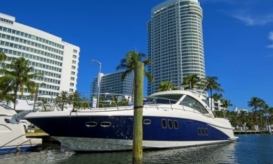 Sundancer Miami Beach Marina Florida USA